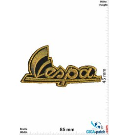 Vespa Vespa - Schrift - gold