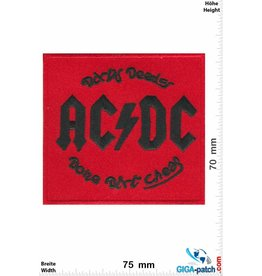 AC DC ACDC  - red  - AC/DC - Dirty Deeds Done Dirt Cheap