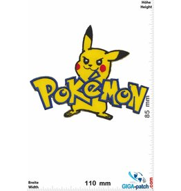 Pikachu  Pikachu - Pokémon - Schrift