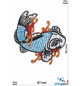 Fisch, Poisson, Fish Fish / Fisch - color - left / links  Patch Oldschool