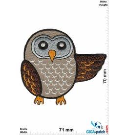 Eule Owl -Eule braun
