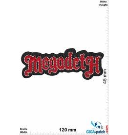 Megadeth Megadeth - red silver