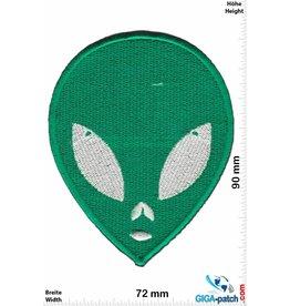 Alien grün Alien - Head - Kopf - grün -