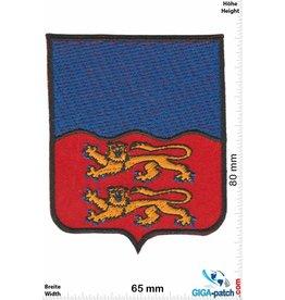 Historical  blau -rot - 2 Löwen