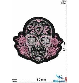 Muerto Skull - Totenkopf - Muerto- pink