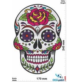 Muerto Skull - Muerto- -white Rose -  24 cm