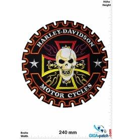 Harley Davidson Harley Davidson - Skull round - 24 cm -BIG