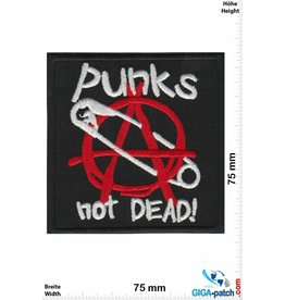 Punks Punks not Dead! - safety pin