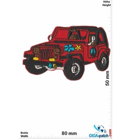 Frieden Jeep - Peace - Frieden -red