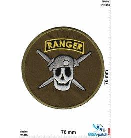 Army Ranger - round Skull - green