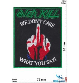 Overkill Overkill - We don't care What you say - Thrash-Metal-Band