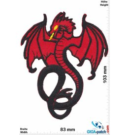 Oldschool Roter Drache - red Dragon