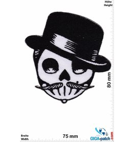 Totenkopf Skull - cylinder and mustache - Oldschool