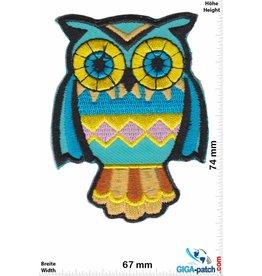 Eule Owl -Eule - blue