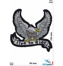 Biker Live to Ride - Adler - Eagle