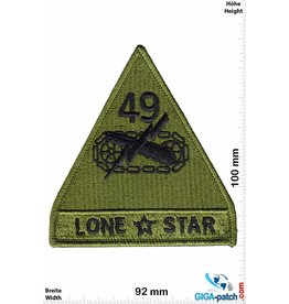 U.S. Army 49TH ARMORED DIVISION - LONE STAR - green -HQ