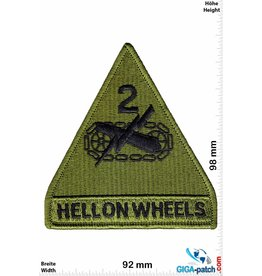 U.S. Army Hell on Wheels - The 2d Armored Division - green - HQ