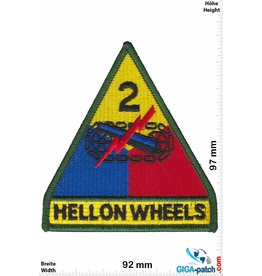 U.S. Army Hell on Wheels - The 2d Armored Division - color - HQ