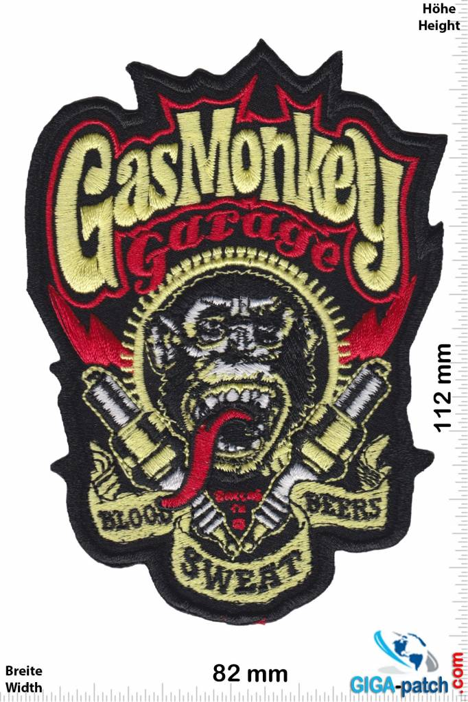 gas monkey patch aufn her aufn her shop patch. Black Bedroom Furniture Sets. Home Design Ideas