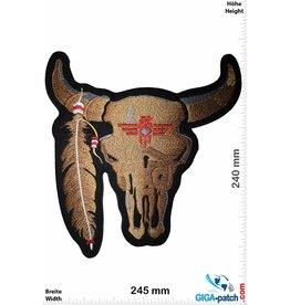 Indian Bison Skull Indian - Bison Schädel  Indianer - braun - 24 cm