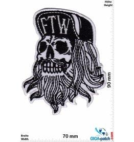 Skull - FTW - Fuck the World - Forever two Wheels