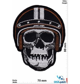 Cafe Racer Totenkopf Helm - Skull Helmet - Cafe Racer