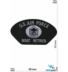 U.S. Air Force U.S. Air Force MSGT Retired - black