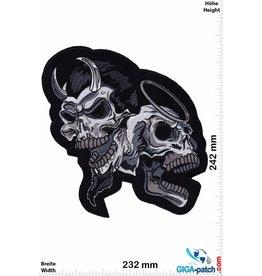 Skull Totenkopf - Engel und Teufel - 24 cm - BIG