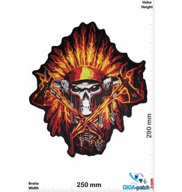 Indian Skull Indian Chief - Totenkopf Indianerhäuptling  - 29 cm - BIG