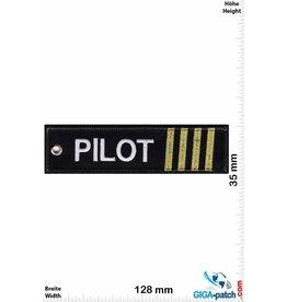 Pilot Pilot - 4 Streifen - gold - doppelseitig - Waschbar