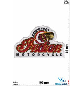 Indian Indian  Motorcycle - Since 1901 - white -  HQ