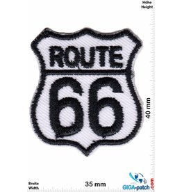 Route 66 ROUTE 66  - small - black white - 2er  Set !