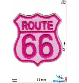 Route 66 ROUTE 66  - small - pink - 2er  Set !