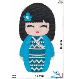 Geisha  - Japan Cartoon - blue