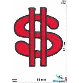 Fun Dollar - $ - red