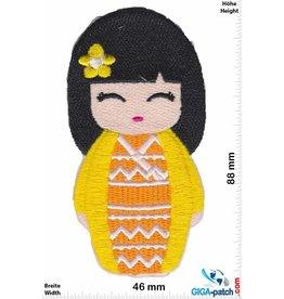 Geisha  - Japan Cartoon - yellow