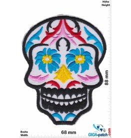 Muerto Skull - Totenkopf - Muerto - white blue