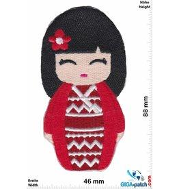 Geisha  - Japan Cartoon - red