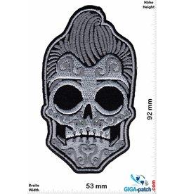 Muerto Skull - Totenkopf - Muerto - silver - Rockabilly