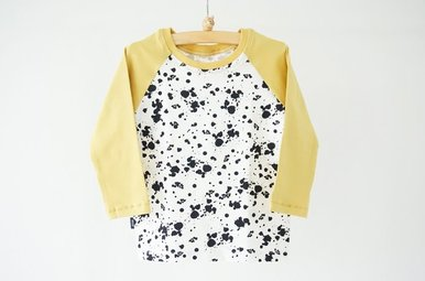 Long sleeve t-shirt Scott - Splash dots & yellow
