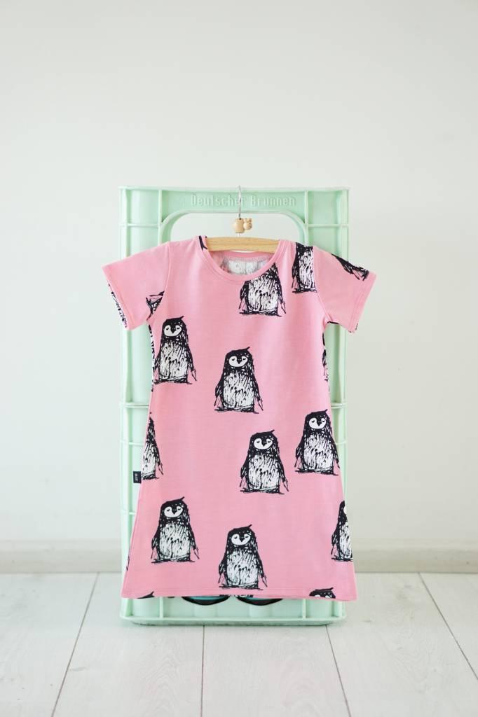 Iek & Jet Jurk Ivy - Pinguin pink