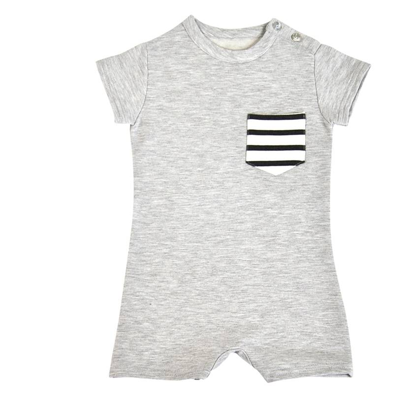 House of Jamie Baby Summer Suit Stone