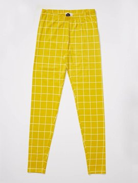 Mainio LAATSTE MAAT 110/116 Grid leggings yellow