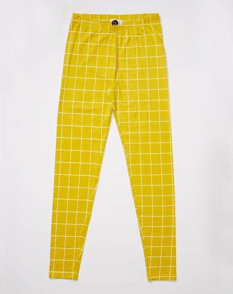 Mainio Grid leggings yellow