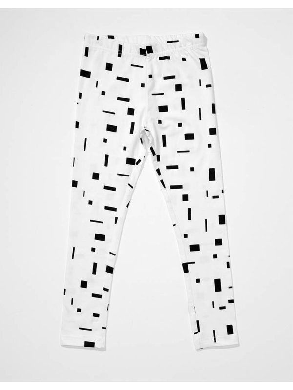 Block leggings white