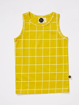 Mainio Grid tank top yellow