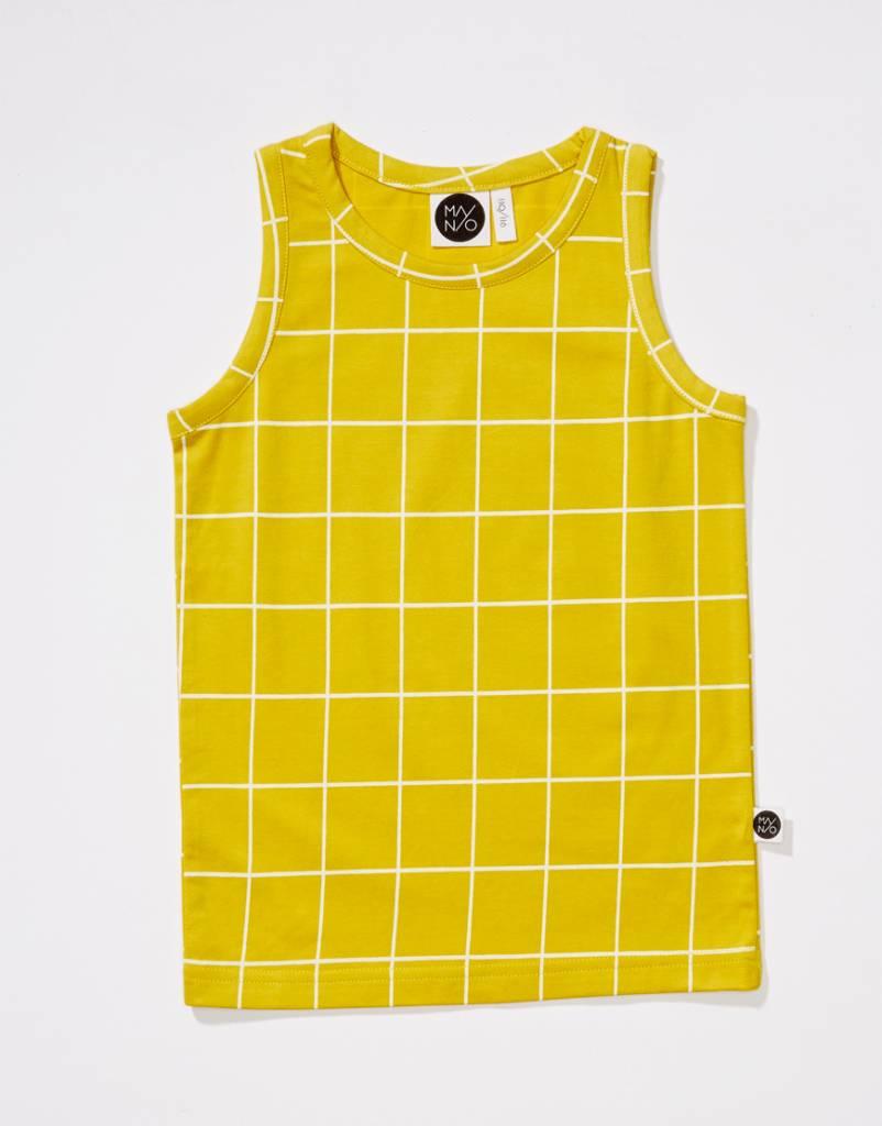 Grid tank top yellow