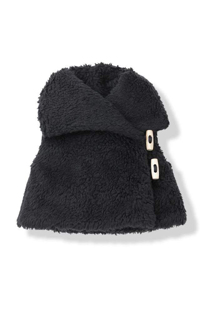 Olimpia fur vest black