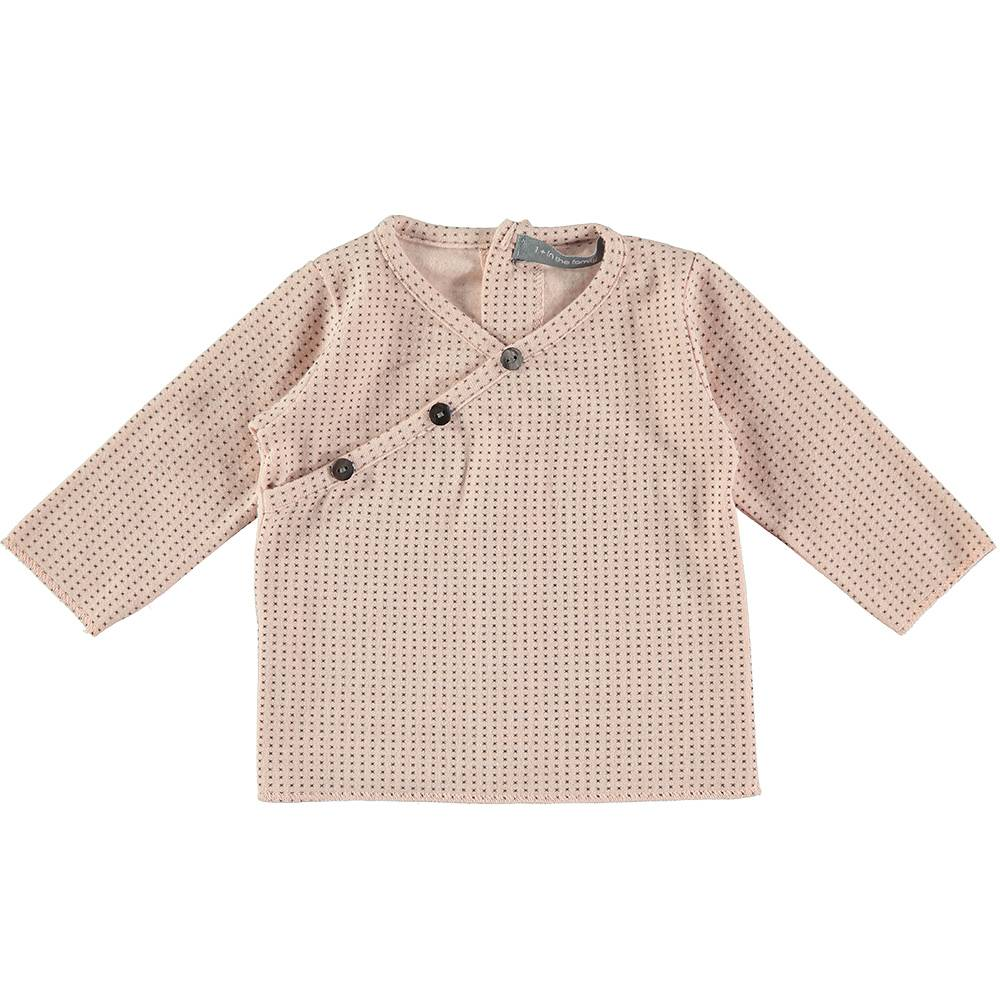 Chantal newborn shirt salmon