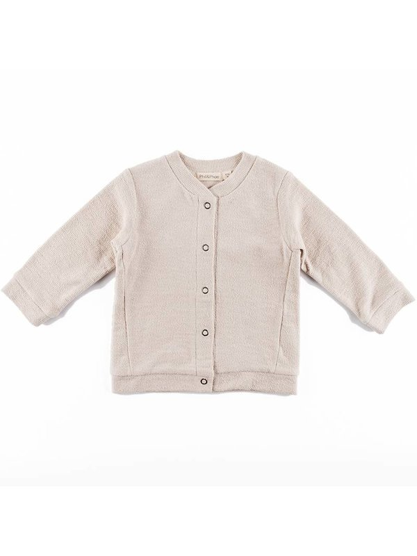 Basic Sweat Cardigan oatmeal